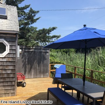 Private and Peaceful Rear deck on Fair Harbor Deck
