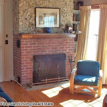 Sun drenched living room in Fair Harbor Fire Island vacation rental # 46
