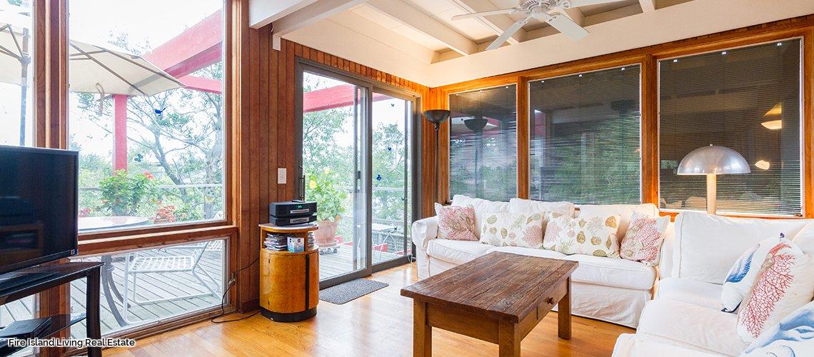 Open floor plan in Fair Harbor Beach House