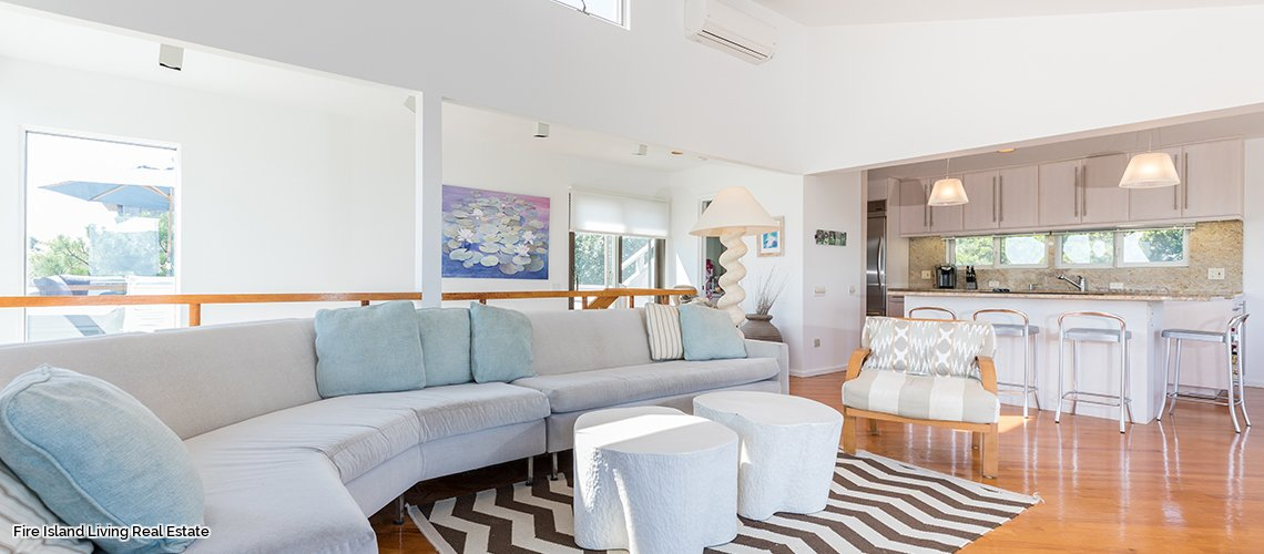 Open concept Living Area in Saltaire Fire Island beach house