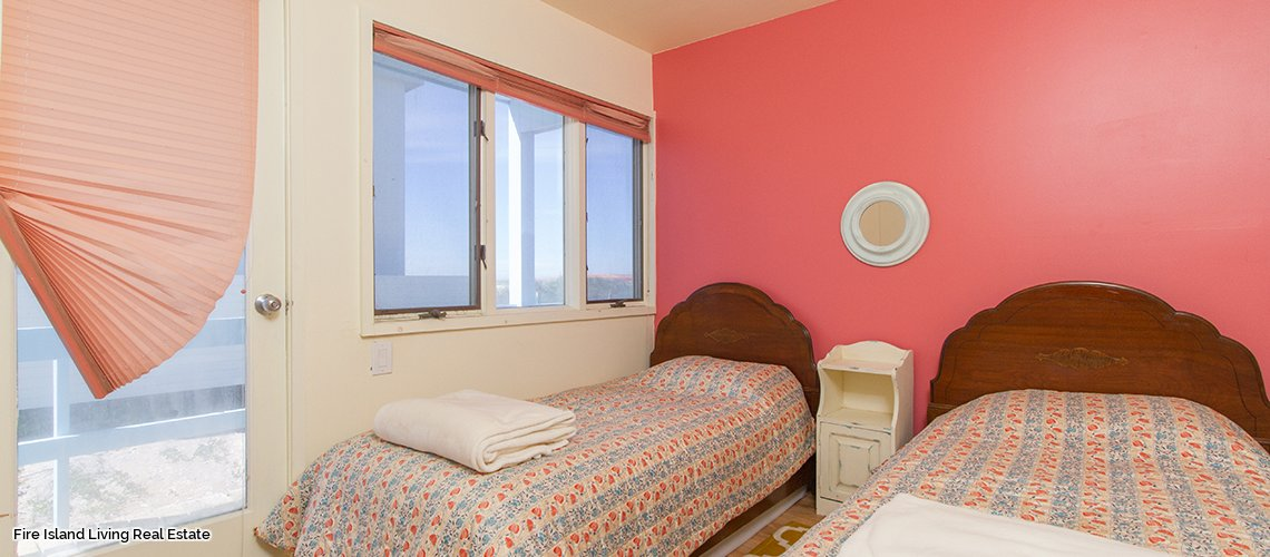 Bedroom # 3 in Saltaire Beach house # 152 for sale on Fire Island