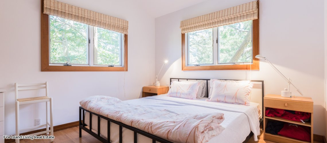 Saltaire Bedroom # 1 in Fire Island beach house # 209