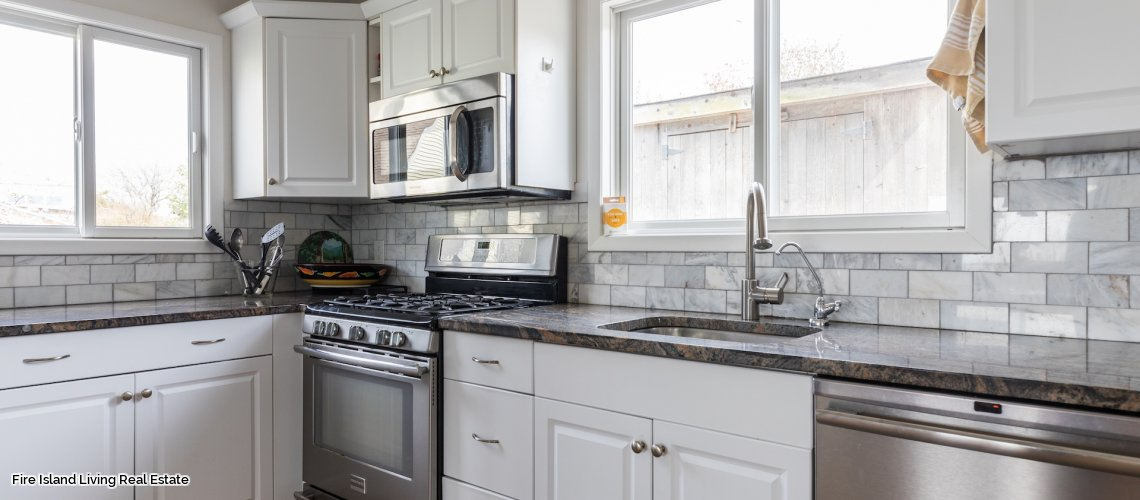 Fire Island kitchen in house # 17