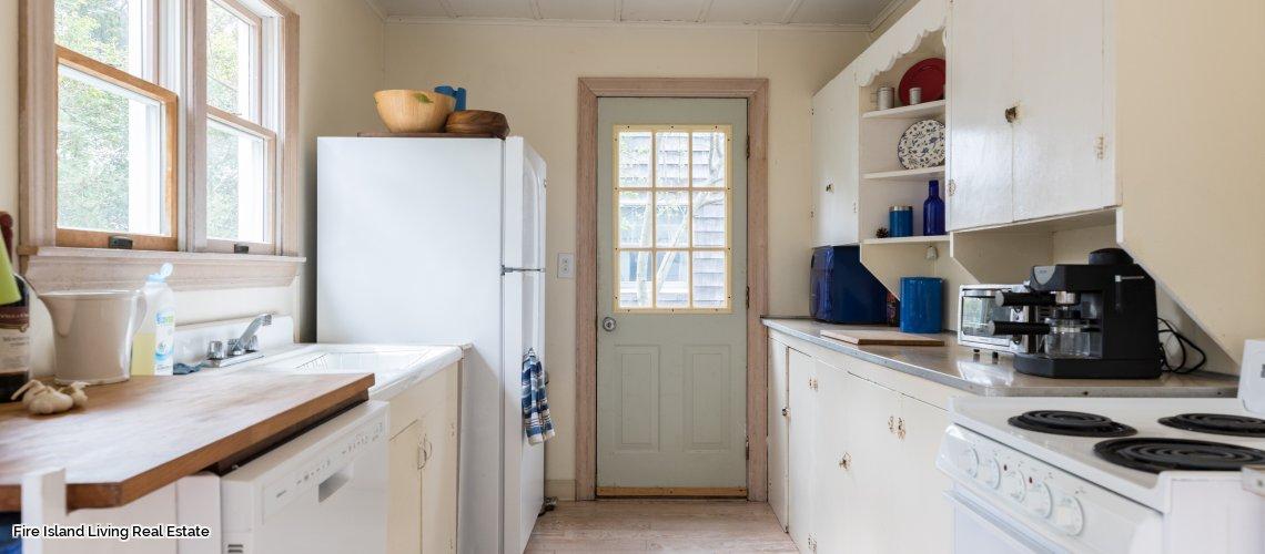 Fair Harbor kitchen in rental # 10 on Fire Island