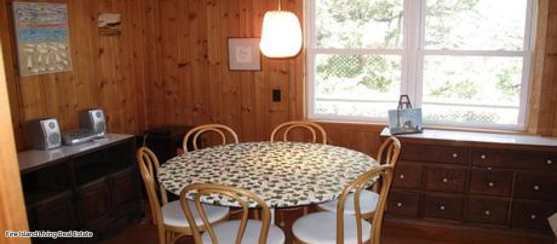 Dining Area in a Fire Island beach house