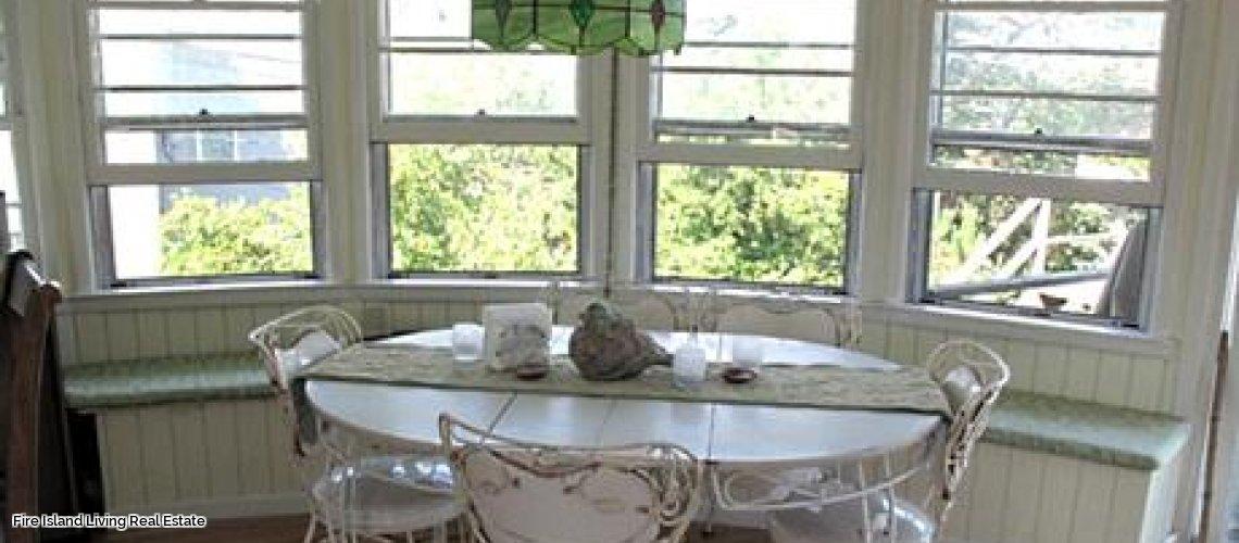 Kitchen area in Fair Harbor Fire Island beach house
