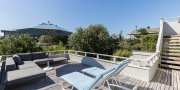 Deck area in Fire Island home for sale in Saltaire