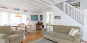 Saltaire living room in Fire Island summer home # 110