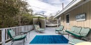 Large open deck in beach house # 3 in Saltaire