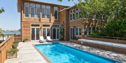 Saltaire Pool in Waterfront Home for Sale